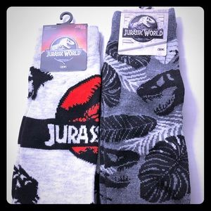 NWT Jurassic Park Dinosaur Dress Socks One Sz